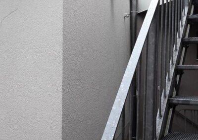 Außenputz und neuer Treppenaufgang